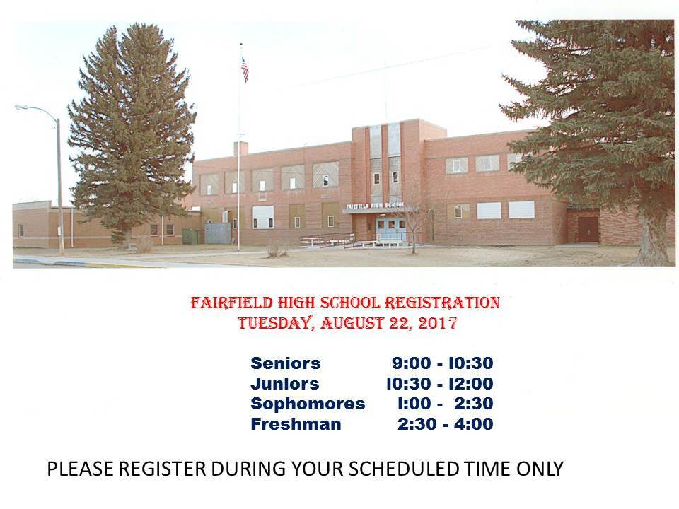TUESDAY,  August 22nd is High School Registration!!!